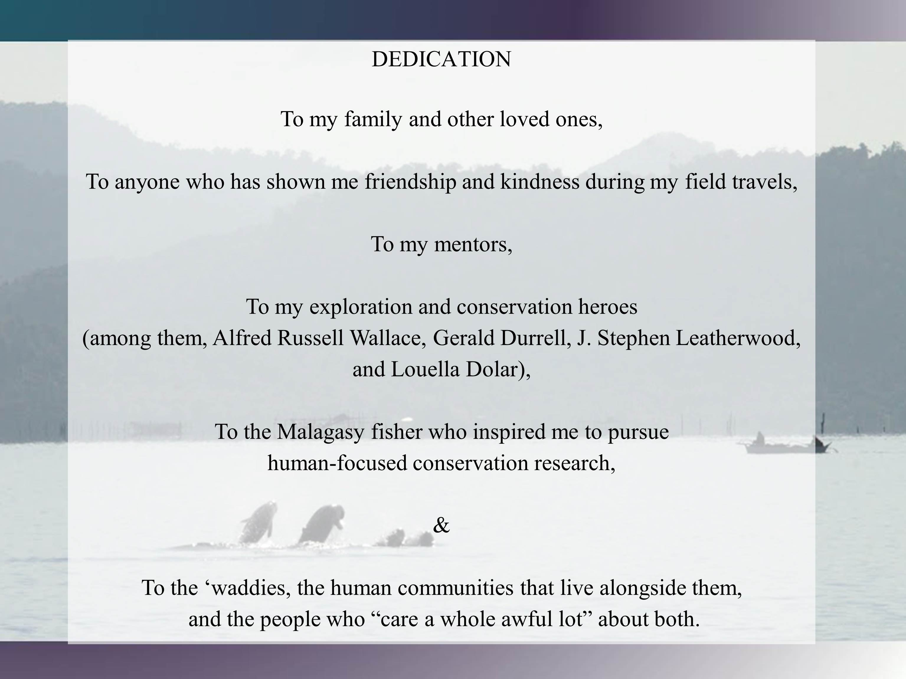 write dedication dissertation