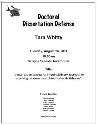 Whitty Defense Announcement